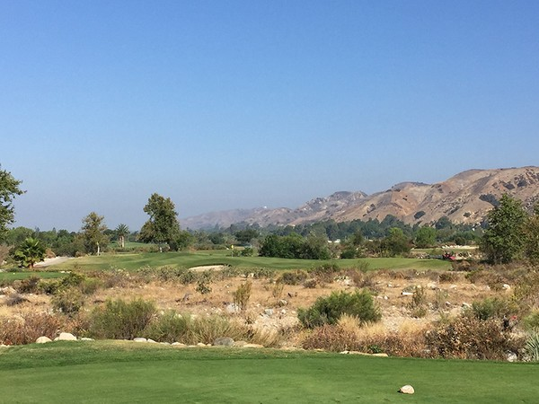 Angeles National Golf Club Sunland California. Hole 7 Par 3
