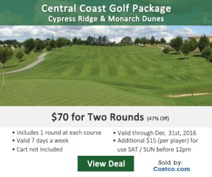 Golf Moose - Central CA Cypress Ridge & Monarch Dunes Golf Tee Times