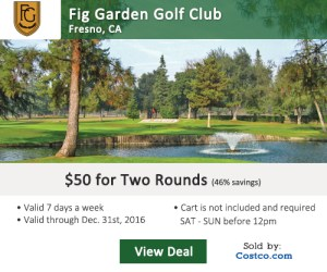Costco Online Special - Fig Garden Golf Club Tee Times