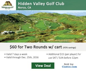 Costco Online Special - Hidden Valley Golf Club Tee Times