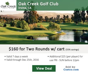 Costco Online Special - Oak Creek Golf Club Tee Times