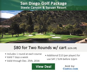 Costco Online Special - Steele Canyon Sycuan Resort Golf Tee Times