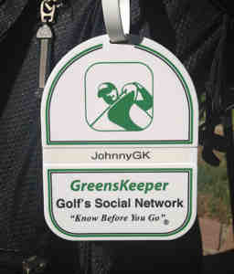 Greenskeeper.Org Bag Tag GK Bag Tag
