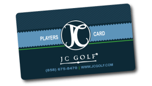 JC GOLF Players Card