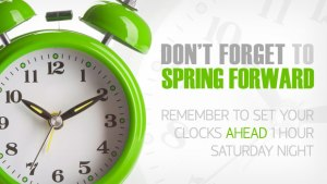 Daylight Savings 2016 Spring Forward