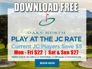 JC Golf Coupon - Oaks North Golf Club Tee Time Special