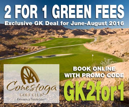 Conestoga Golf Club 2 for 1 Green Fees