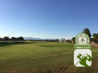 The Club at Sunrise Golf Course Review Las Vegas Nevada – Hole 17 view from fairway
