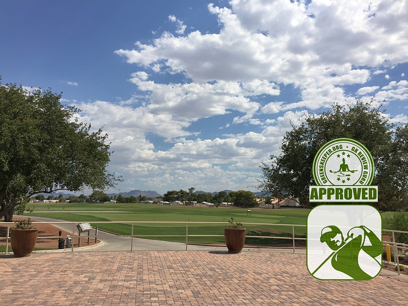 The Club at Sunrise Golf Course Review - patio/staging area