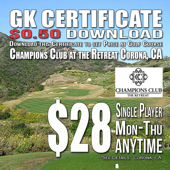 Champions Club at the Retreat GK Certificate