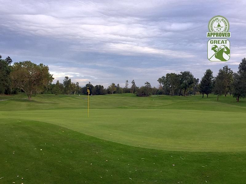 Goose Creek Golf Club Mira Loma California. Hole 17 Green-side