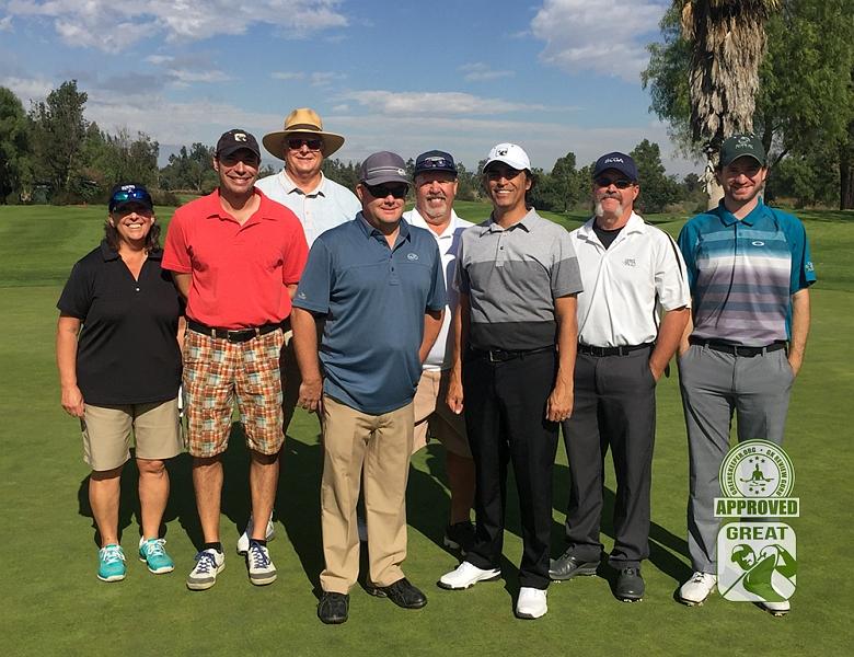 Goose Creek Golf Club Mira Loma California. (shown) L to R) Abbacat, Roarksown1, Dconnally, DangerousBri, sr129, JohnnyGK,rgm2525, lotrgolger48 some of our GK Review Gurus