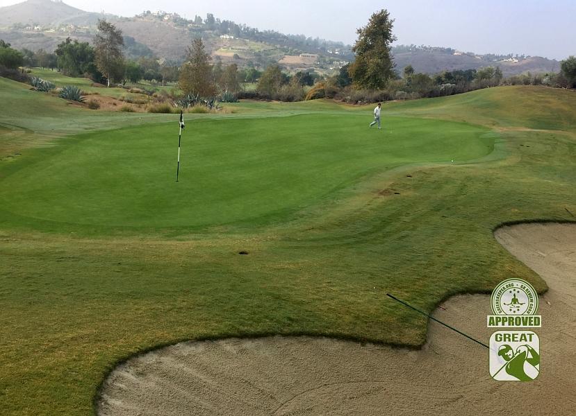 Maderas Golf Club Poway, California. Hole 4 Green-side