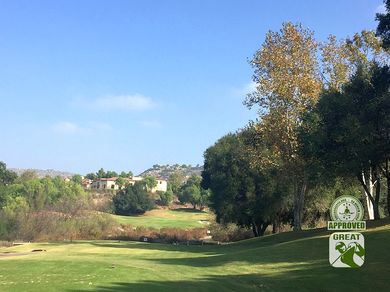 Maderas Golf Club Poway, California. Hole 7 view from Tee Box