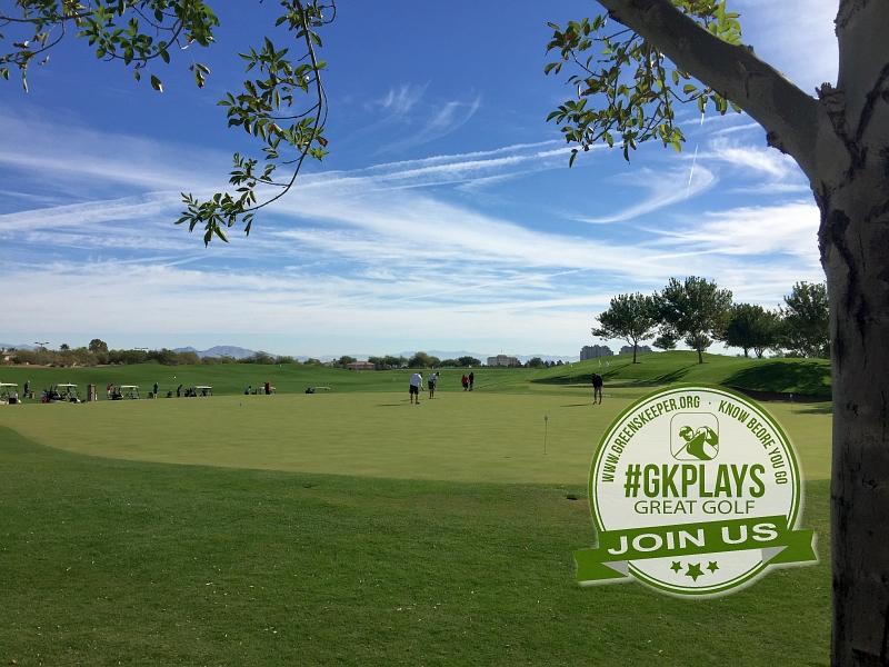 TPC Las Vegas Las Vegas, Nevada. Practice Green with some great weather.