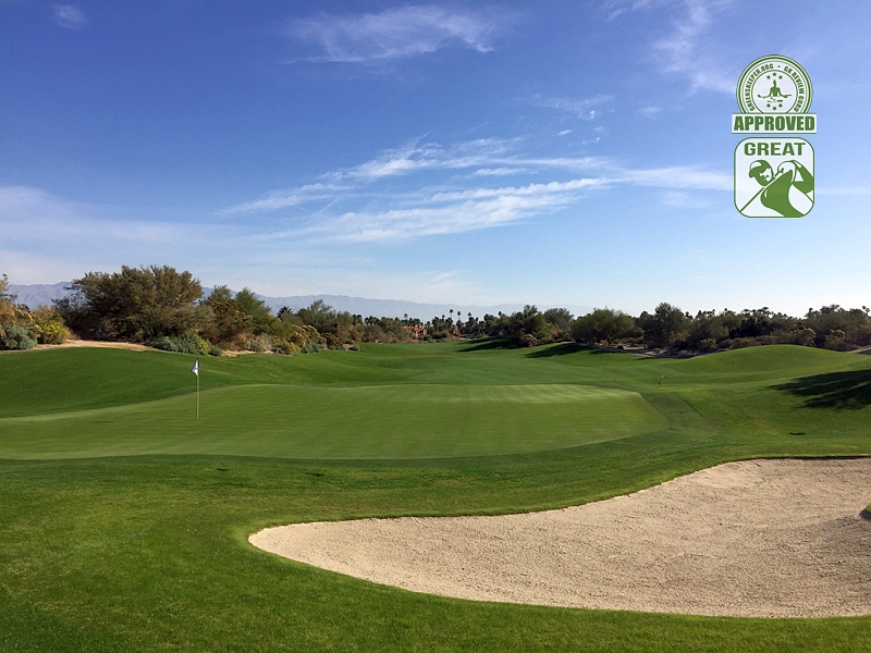 Desert Willow Golf Resort (FIRECLIFF) Palm Desert California. Hole 13 Green-side