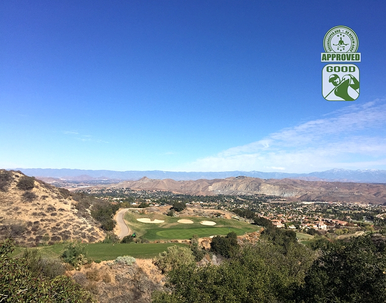 Eagle Glen Golf Club Corona California. Hole 4 View From Tee Box