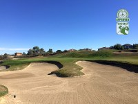 Eagle Glen Golf Club Corona California. Hole 5 View from Green-side Bunker