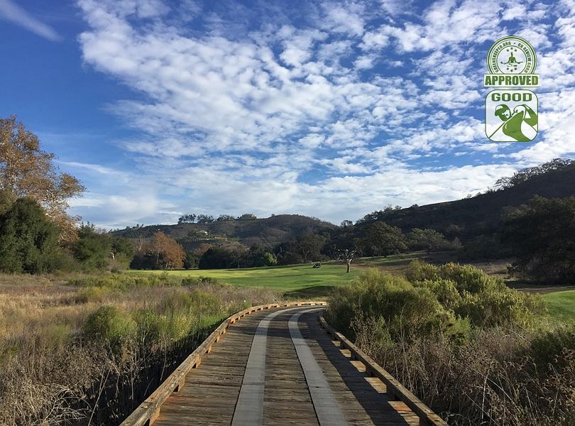 CrossCreek Golf Club Temecula California. Hole 5 View from Bridge next to Tee Box