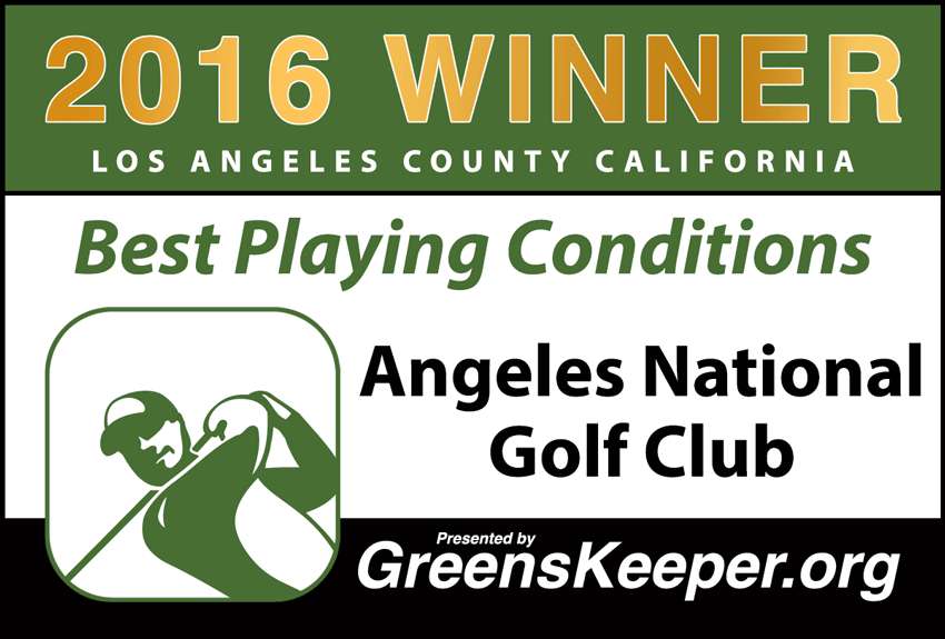 2016 Best Playing Conditions for Los Angeles County - Angeles National Golf Club