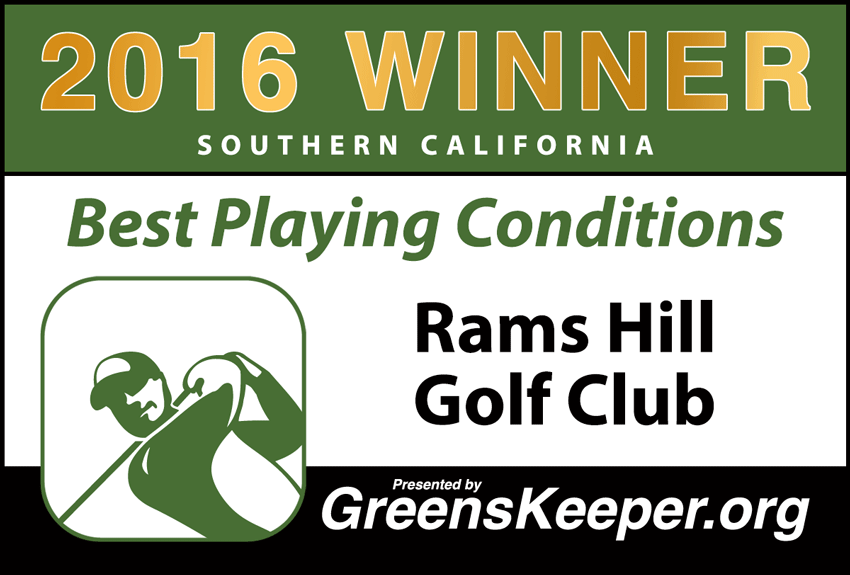 2016 Best Playing Conditions for Southern California - Rams Hill Golf Club