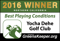 2016 Best Playing Conditions for Northern California – Yocha Dehe Golf Club