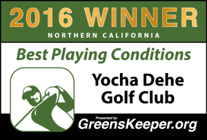 2016 Best Playing Conditions for Northern California - Yocha Dehe Golf Club