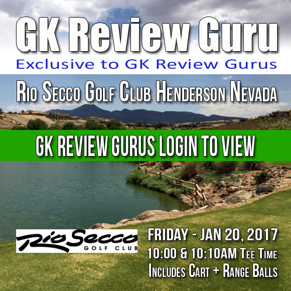 #GKReviewGuru @RioSecco #Golf #Henderson #Nevada FRIDAY Jan 20 2016 10:00 & 10:10AM