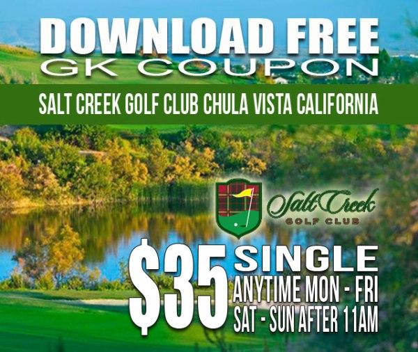 Salt Creek Golf Club Chula Vista, California GK Coupon Golf Tee Time Special