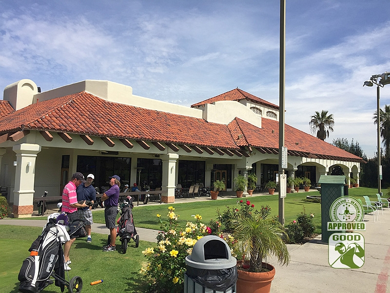 Los Serranos Country Club Chino Hills California - Clubhouse with some GKers in the foreground