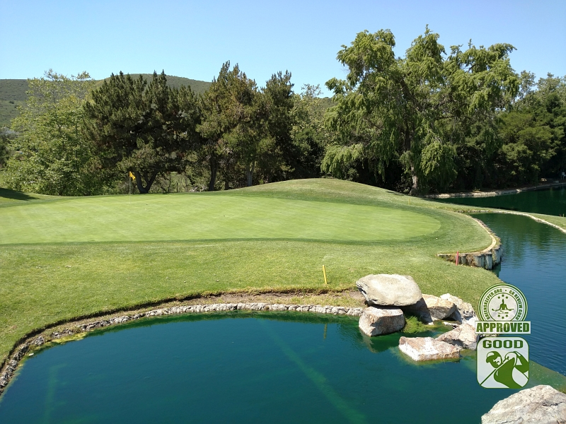 Twin Oaks Golf Course San Marcos California Hole 9 Green-side