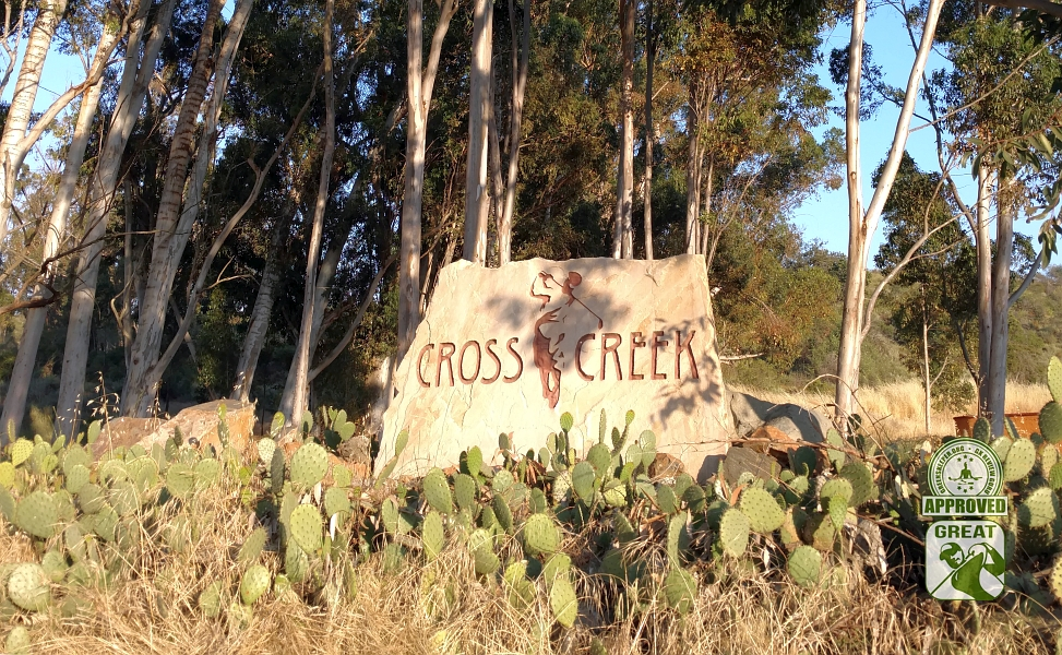 CrossCreek Golf Club Temecula California - Signage Marks the Entrance