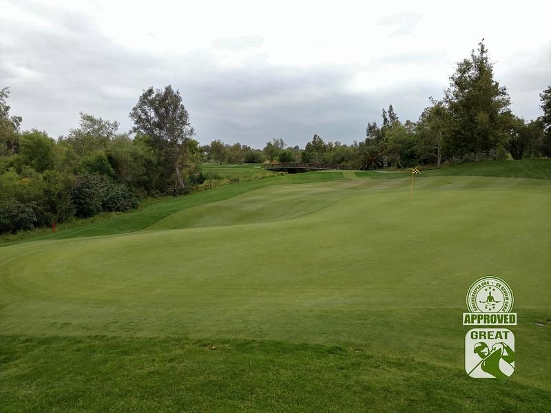 Goose Creek Golf Club Mira Loma California GK Review Guru Visit - Hole 11 Green-side