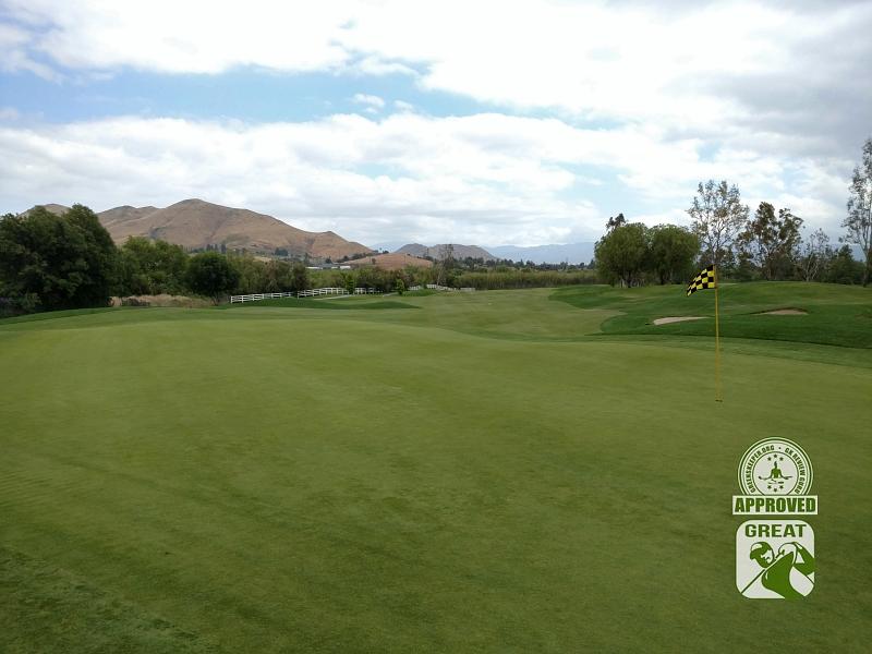 Goose Creek Golf Club Mira Loma California GK Review Guru Visit - Hole 12 Green-side