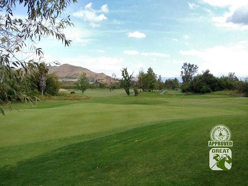 Goose Creek Golf Club Mira Loma California GK Review Guru Visit - Hole 16 Green-side