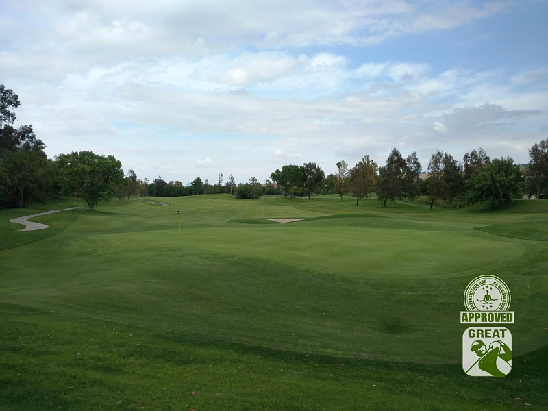 Goose Creek Golf Club Mira Loma California GK Review Guru Visit - Hole 17 Green-side