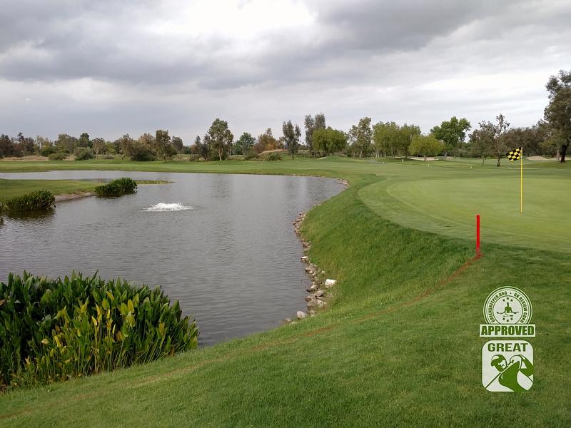 Goose Creek Golf Club Mira Loma California GK Review Guru Visit - Hole 18 Green-side