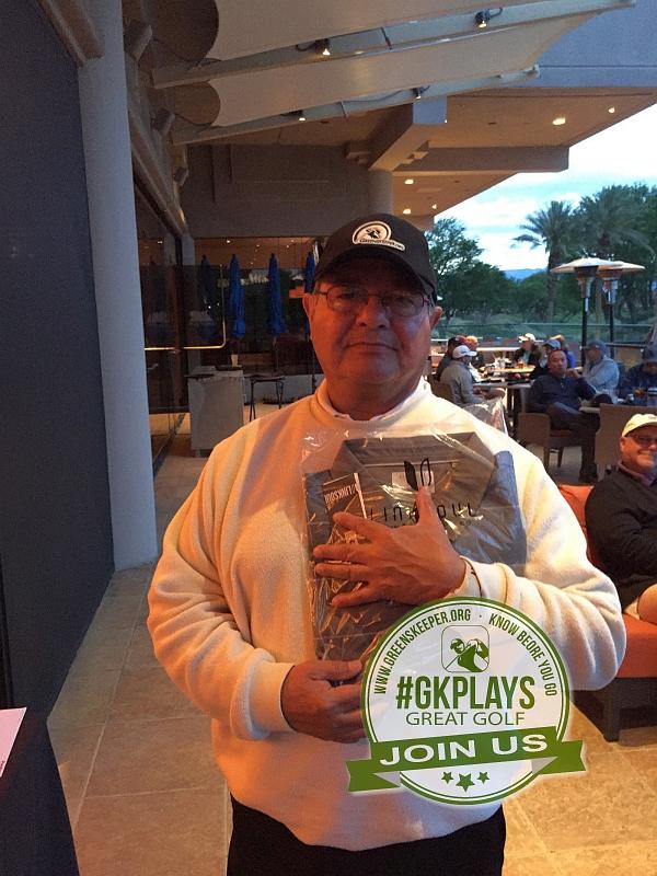 PGA West Nicklaus Tournament La Quinta California 3Puttjohn shows off his LINKSOUL gear