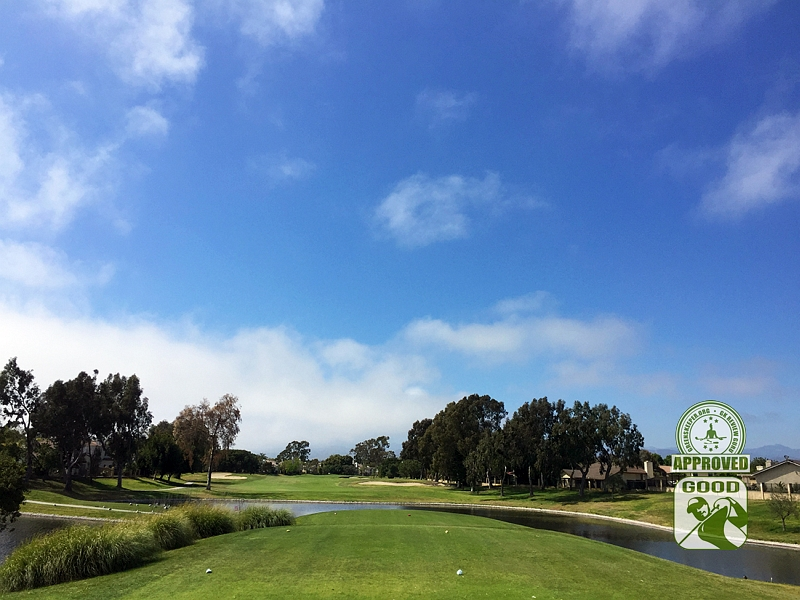 River Ridge Golf Course VINEYARD Oxnard California, GK Review Guru - Hole 16