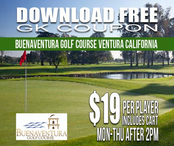Buenaventura Golf Course Ventura California GK Coupon & Tee Time Special