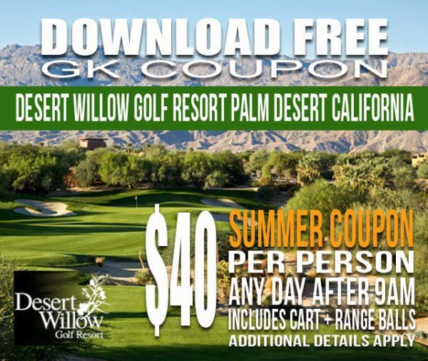 Desert Willow Golf Resort Palm Desert California GK Coupon
