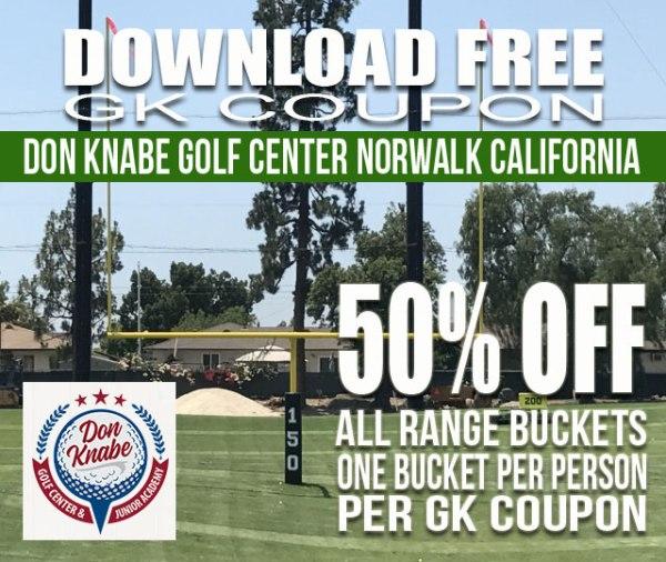 Don Knabe Golf Center & Junior Academy Norwalk California GK Coupon