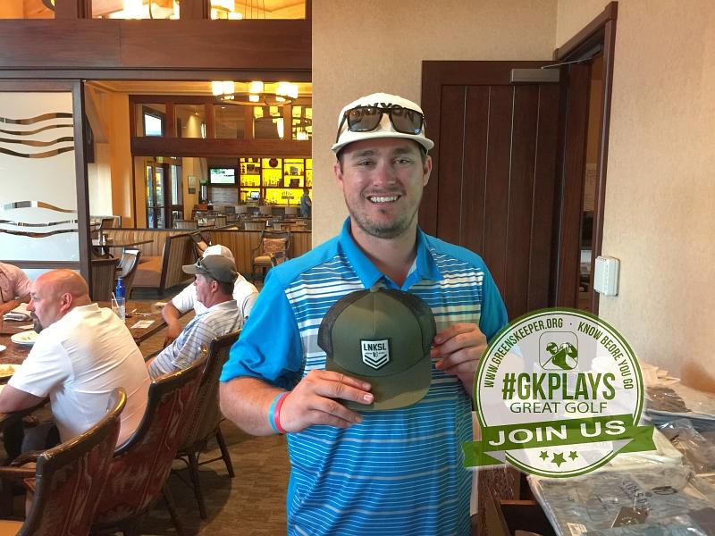 Yocha Dehe Golf Club Brooks CA Greg Hughes shows off his LINKSOUL SWAG