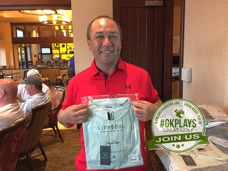 Yocha Dehe Golf Club Brooks CA Ian Tervel shows off his LINKSOUL SWAG