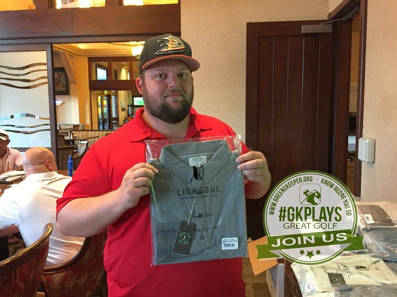 Yocha Dehe Golf Club Brooks CA Matt Pisarski shows off his LINKSOUL SWAG