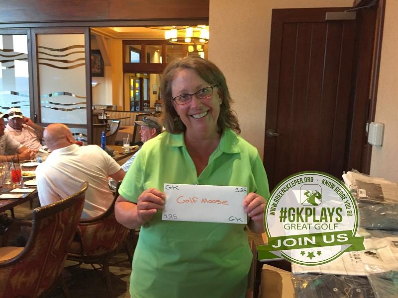 Yocha Dehe Golf Club Brooks CA Wendy Kaye off her GOLFMOOSE SWAG