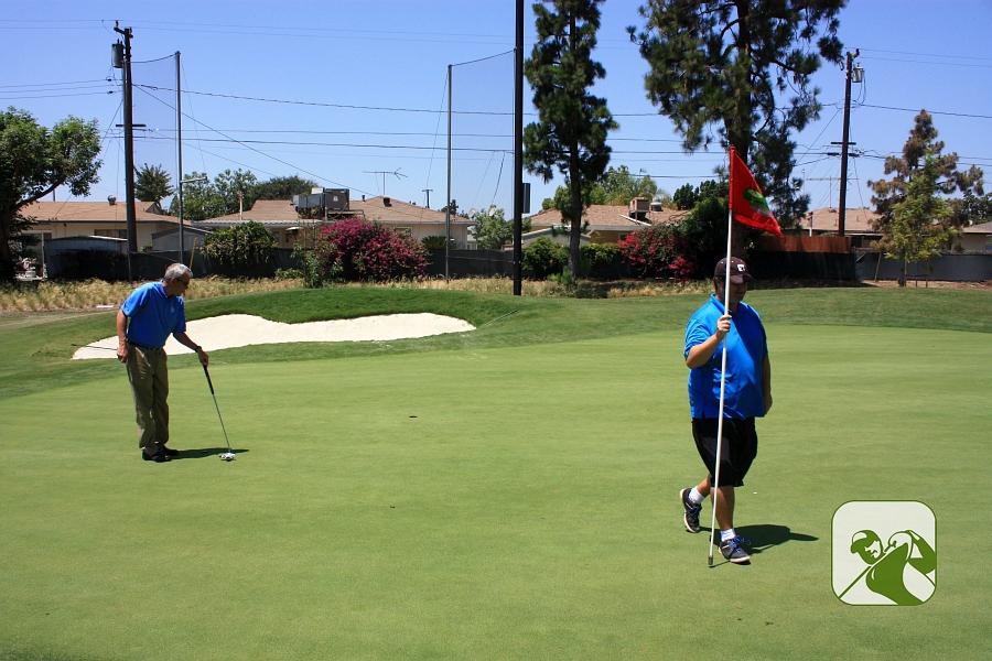 Don Knabe Golf Center & Junior Academy Norwalk California - Large NEW Bent Grass Greens