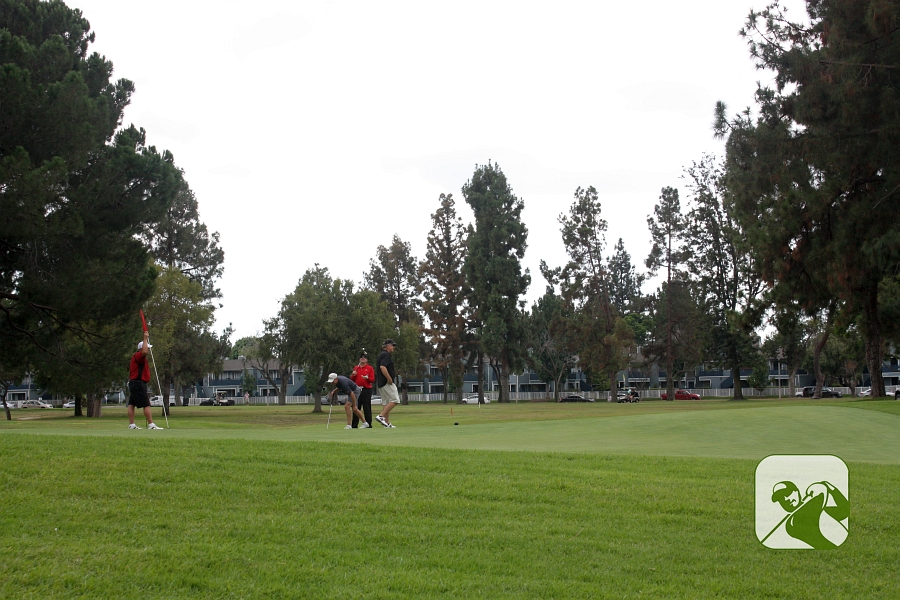 Los Amigos Golf Course Downey CA Hole 13 Green-side