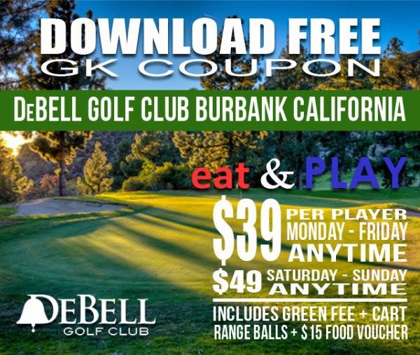 DeBell Golf Club Burbank California Eat & Play GK Coupon