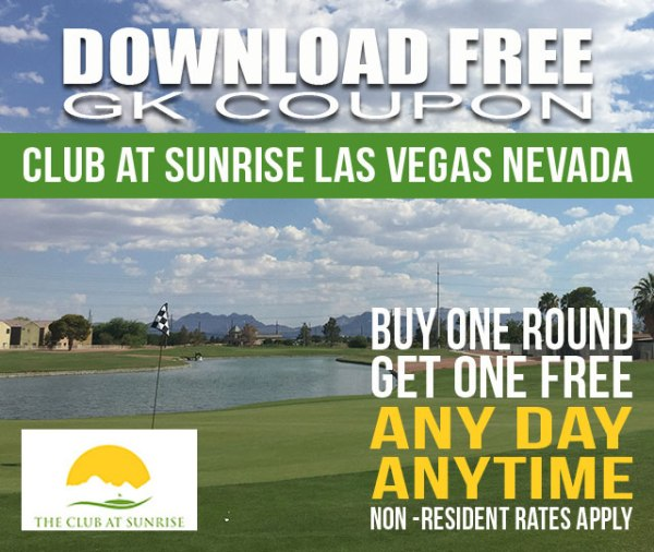 Club at Sunrise Las Vegas Nevada GK Coupon Golf Tee Time Special